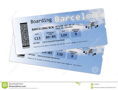 airline boarding pass tickets to barcelona europe spain stock photo image of boarding
