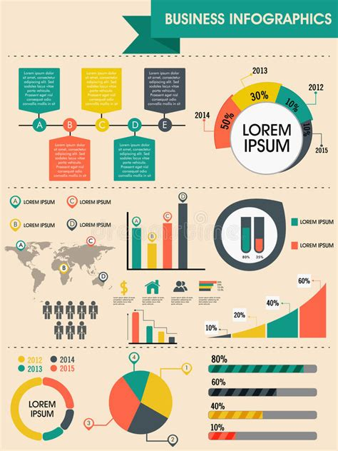 Stylish Business Infographic Template Stock Illustration Illustration Of Growth Demographic Interactive Infographics Templates