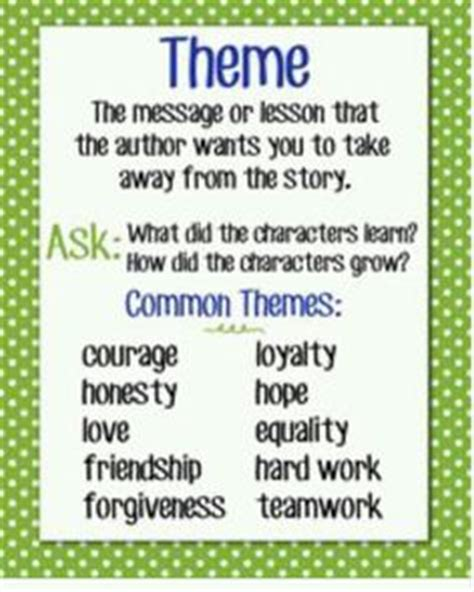 common themes in literature grade 5 theme in literature posters 9 common themes chalkboard