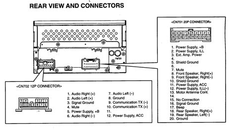 car audio wire diagram codes toyota factory car stereo