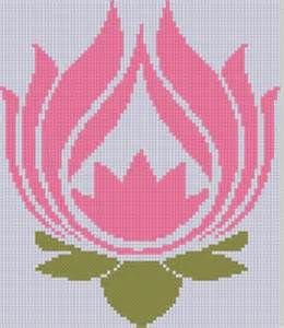 lotus flower cross stitch pattern by motherbeedesigns