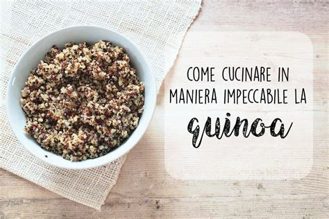 come si cucina la quinoa come cucinare in maniera impeccabile la quinoa ricette