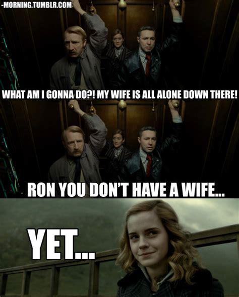 Hermione Meme - funny harry potter joke ron hermione meme