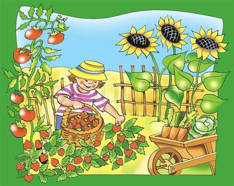 Farm Home Plans by Little Young Farmer Stock Photo Colourbox