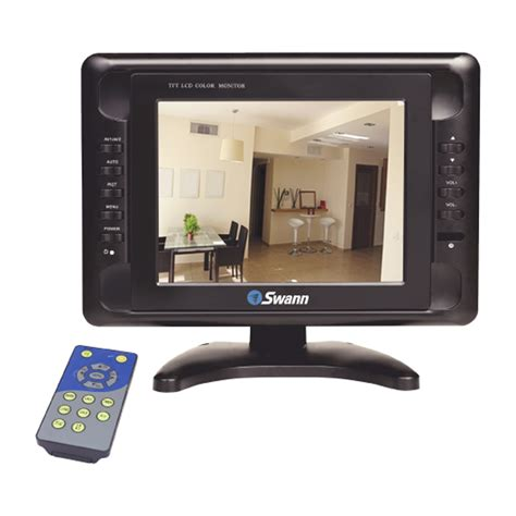 Monitor Cctv swann 8 quot lcd colour cctv dvr security monitor remote ebay