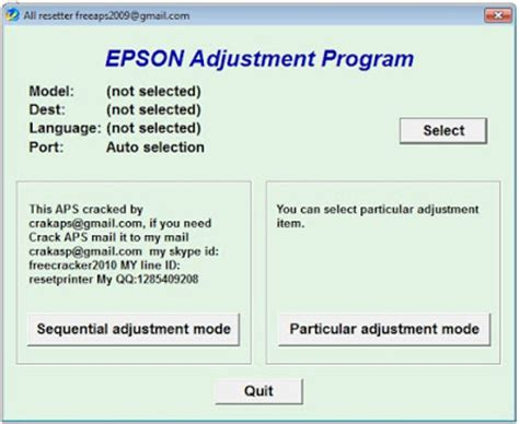 Resetter Epson L120 Unlimited 1 Pc epson l120 adjustment program software driver and printer resetter
