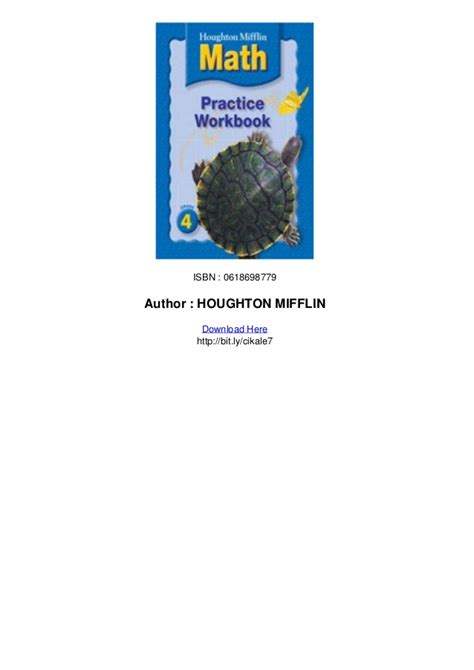 houghton mifflin mathematics homework book consumable level 4 books houghton mifflin math homework book grade 4