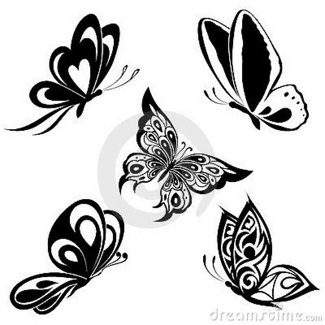 butterfly tattoo designs black and white simple black butterfly designs search