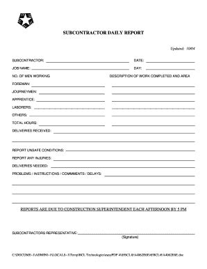superintendent daily report template construction management daily report forms autos post