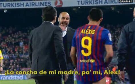 alexis sanchez guardiola guardiola se enoj 243 con el chileno alexis sanchez taringa