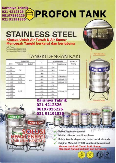Maspion Profil Tank watertank stainless steel air tanah sumur type tanpa