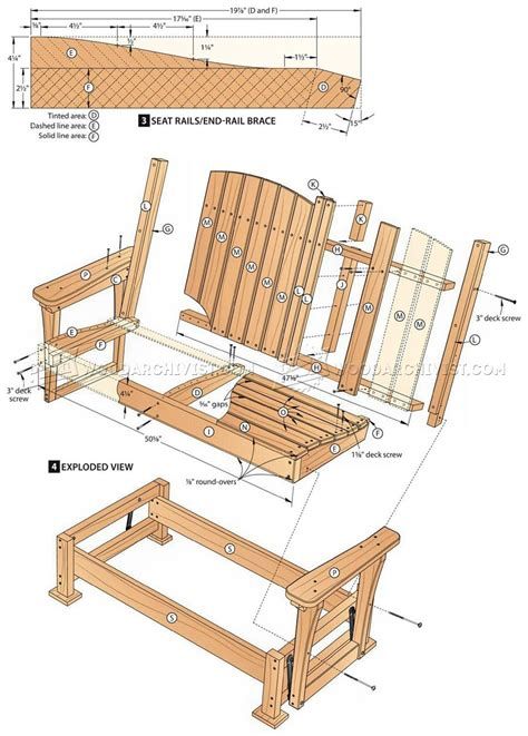 Patio Glider Chair Plans by Glider Bench Plans Woodarchivist
