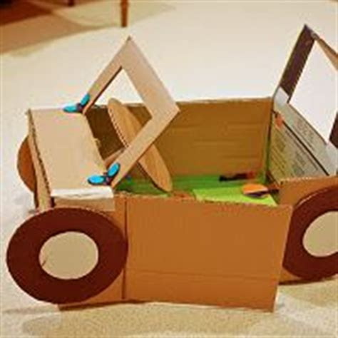 How To Make A Race Car Out Of Paper - car made out of cardboard boxes craft to keep the