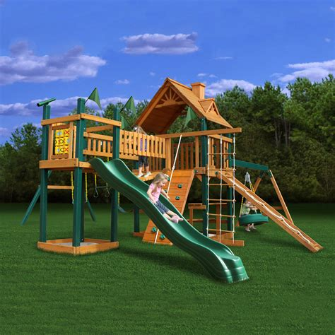 wooden backyard playsets gorilla playsets 01 0006 ts pioneer peak swing set atg
