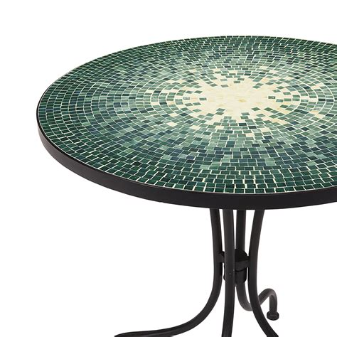 Tile Top Bistro Table Smith Reece Bistro Table In Green Mosaic Kmart