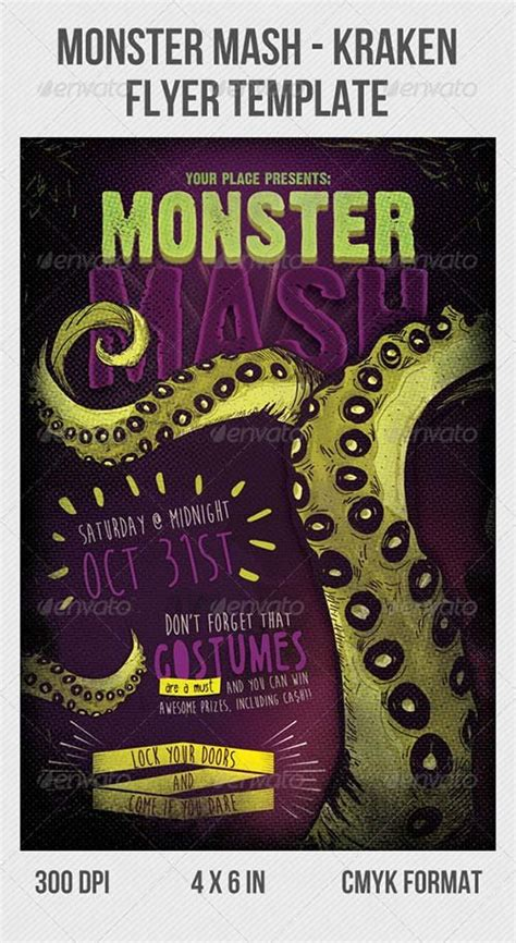 flyer templates graphicriver kraken party flyer