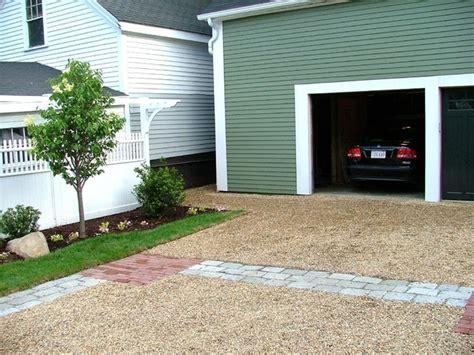 porous driveway materials granite brick pavers and peastone