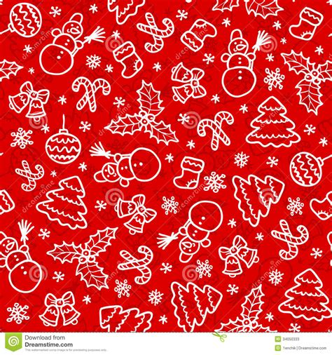 red pattern vector red christmas seamless pattern in cartoon style stock
