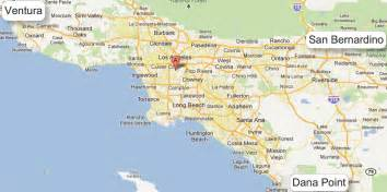 map of los angeles california area map of greater los angeles area indiana map