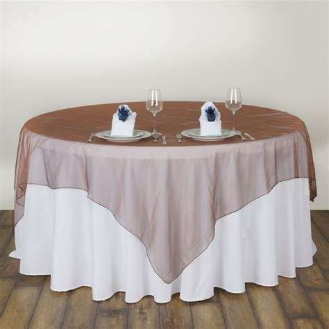 "10 pc 72x72"" Sheer Organza Table Overlays Wedding Party"