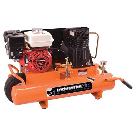 shop industrial air 8 gallon portable gas horizontal air compressor at lowes