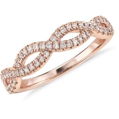 infinity twist micropav wedding ring 1000 ideas about infinity ring on