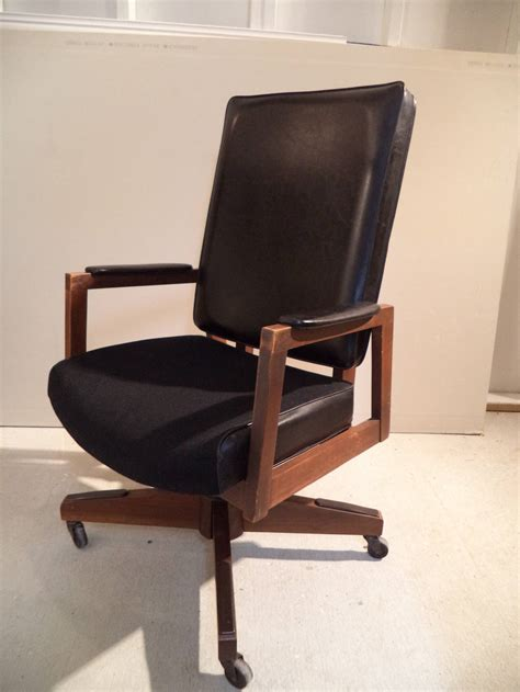 mid century desk chair mid century executive desk chair at 1stdibs