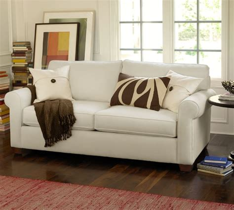 pottery barn leather sofa reviews reviews on pottery barn sofas our living room sectional