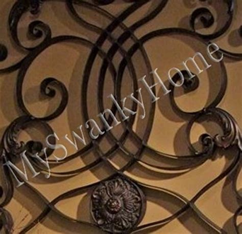 extra large  wall art iron scroll oversize indoor