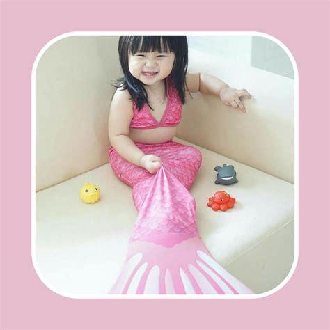 Mermaidtail Motif Fantasia Pink Size L 8 10th23 30kg Lengan Panjang detail dan harga baju putri duyung pink flash