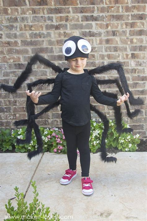 diy easy  sew spider costume    give
