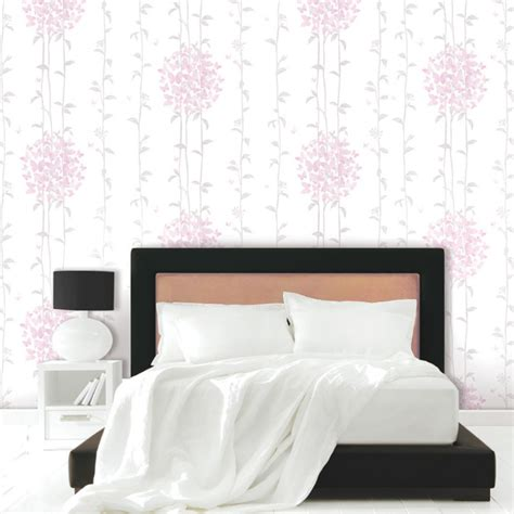 Bedroom Wall Ls Home Depot by Floral Self Adhesive Bedroom Wallpaper Home Depot
