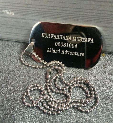 Kalung Nama Dogtag Silver Stainless Steel hadiah store personalized pet tag