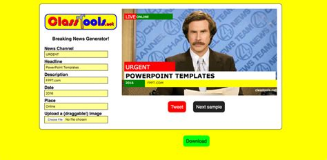 Using a Free Breaking News Generator to Make an Engaging
