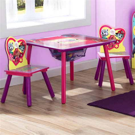paw patrol table set nick jr paw patrol and everest 3 table and