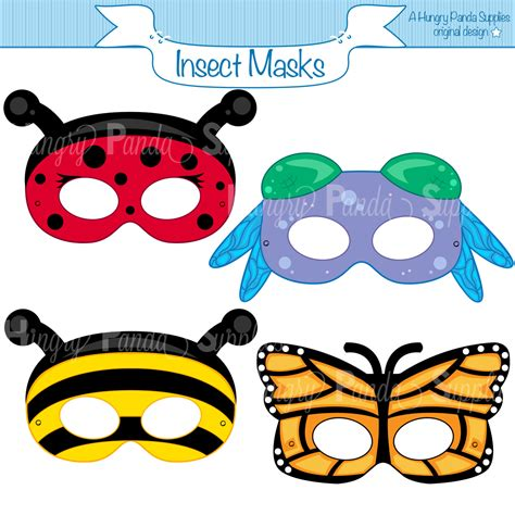Bug Masks For Templates insects printable masks insect masks ladybug mask bee mask
