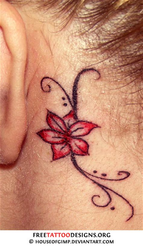 flower tattoo behind ear flower tattoo gallery 70 flower designs