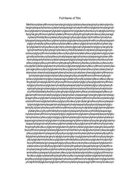 longest word   chemical   titin