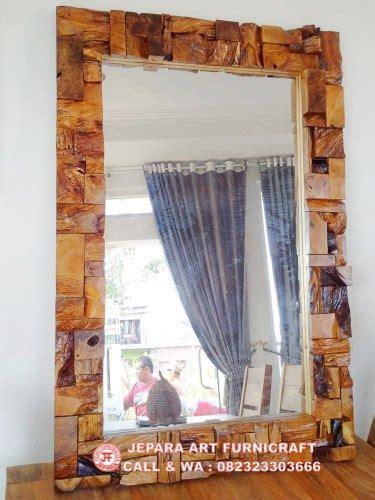 Cermin Antik paling unik cermin antik deco blok laminated recycled murah
