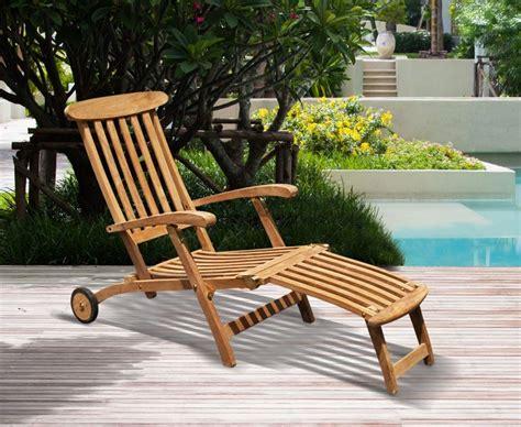 halo teak steamer chair  cushion wheels brass fittings
