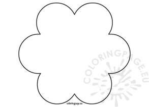 6 Petal Flower Template by Flowers Coloring Page