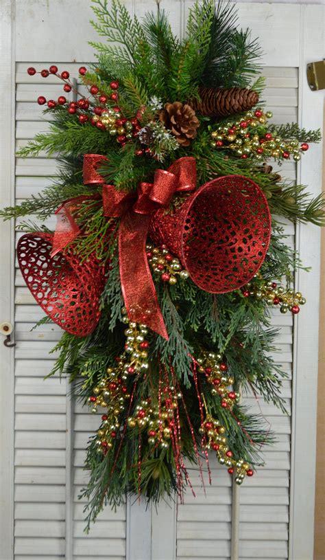 christmas door swag  bells christmas wreath pone