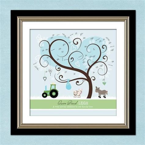 enfold theme guestbook thumbprint tree baby shower guest book personalized farm