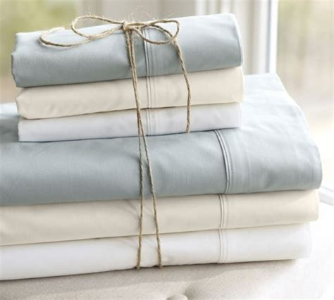 organic bed sheets organic bedding from pottery barn