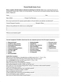 Mental Health Assessment Template by Doc 12751650 Sle Health Assessment Employee Health