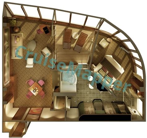 Norwegian Epic Cabins And Suites Cruisemapper Ncl Cabin Floor Plans