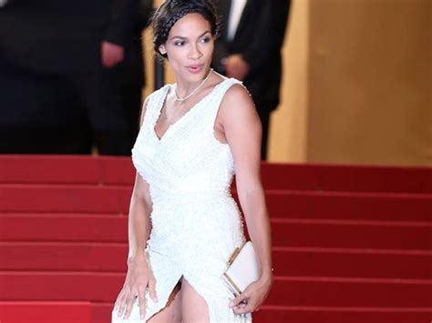 Runway To Carpet Rosario Dawsons Cannes Gown by Rosario Dawson Wardrobe Malfunction Flashes At