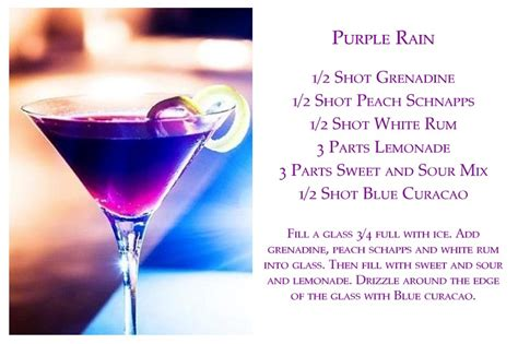 purple martini recipe purple rain recipe