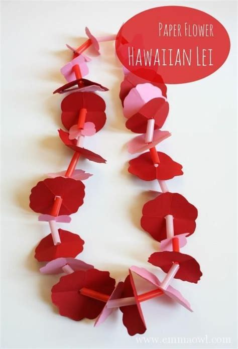 How To Make Paper Flower Leis - make your own paper flower hawaiian tutorial for