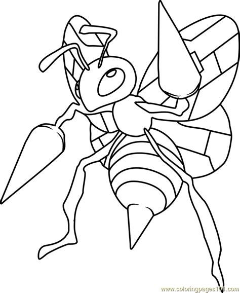 Pokemon Coloring Pages Beedrill | 89 pokemon coloring pages mega gengar 18 dessins de